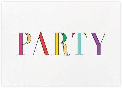 Rainbow Party - kate spade new york - Adult Birthday Invitations