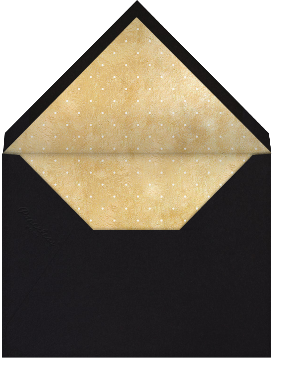 Winter Wreath (Save the Date) - Black/Gold - Paperless Post - Photo  - envelope back