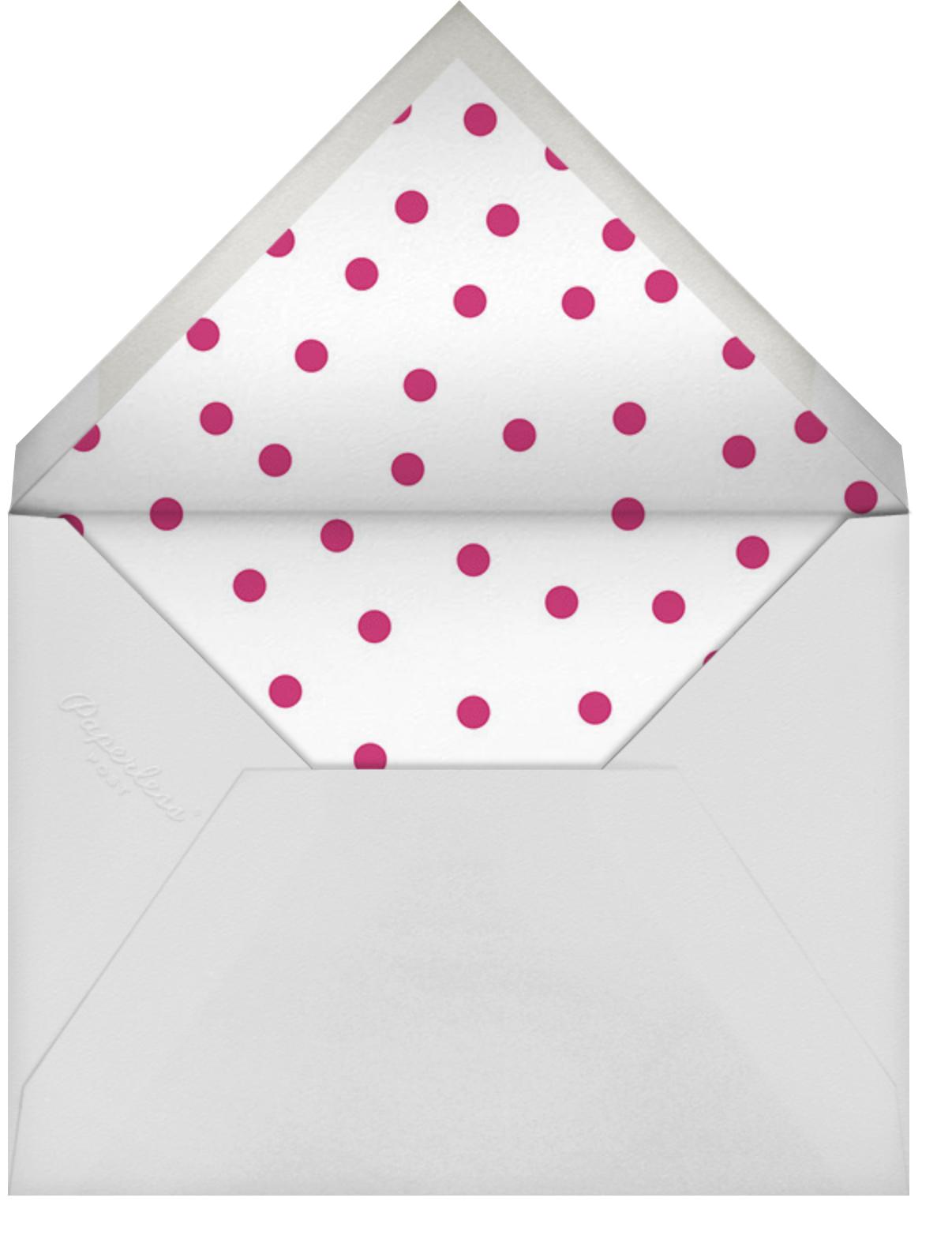 Tricolor Birthday - Dragonfruit - Sugar Paper - Kids' birthday - envelope back