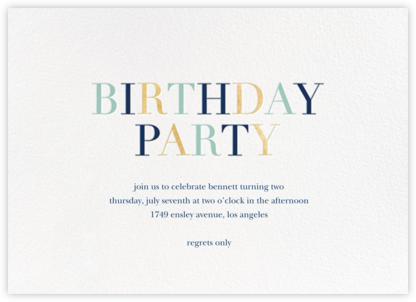 Tricolor Birthday - White/Dark Blue - Sugar Paper - Sugar Paper