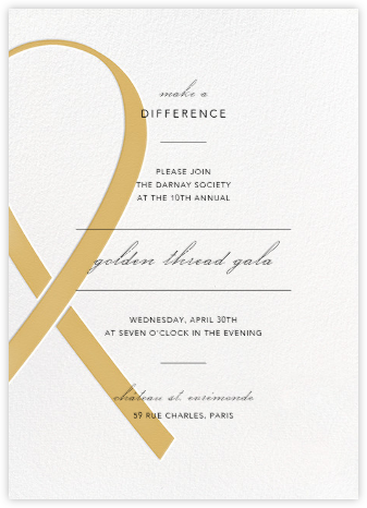 Charity Ribbon - Apricot - Paperless Post - Business event invitations