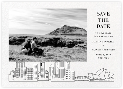 Sydney View (Photo Save the Date) - White/Black | null
