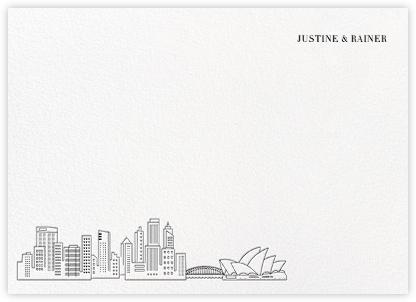 Sydney Skyline View (Stationery) - White/Black | null