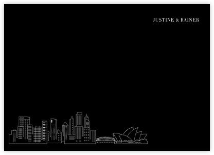 Sydney Skyline View (Stationery) - Black/White   null