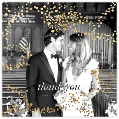 Evoke (Square Photo) - Gold - Kelly Wearstler - Wedding thank you cards
