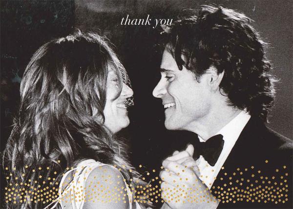 Jubilee (Photo Stationery) - Gold - Kelly Wearstler - Wedding thank you notes