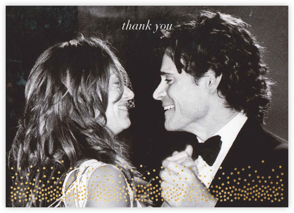 Jubilee (Photo Stationery) - Gold - Kelly Wearstler - Wedding thank you notes