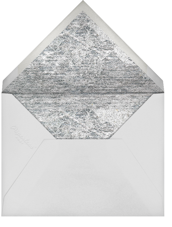Jubilee (Photo Stationery) - Silver - Kelly Wearstler - Wedding - envelope back