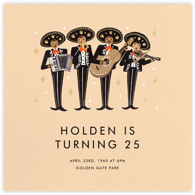 Mariachi - Rifle Paper Co. - Adult birthday invitations