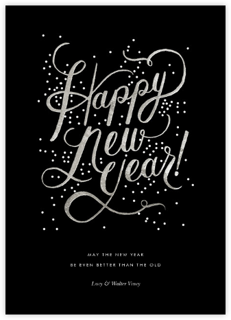 Shimmering New Year - Rifle Paper Co. - New Year Cards