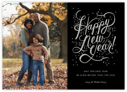 Shimmering New Year (Photo) - Rifle Paper Co. - New Year Cards