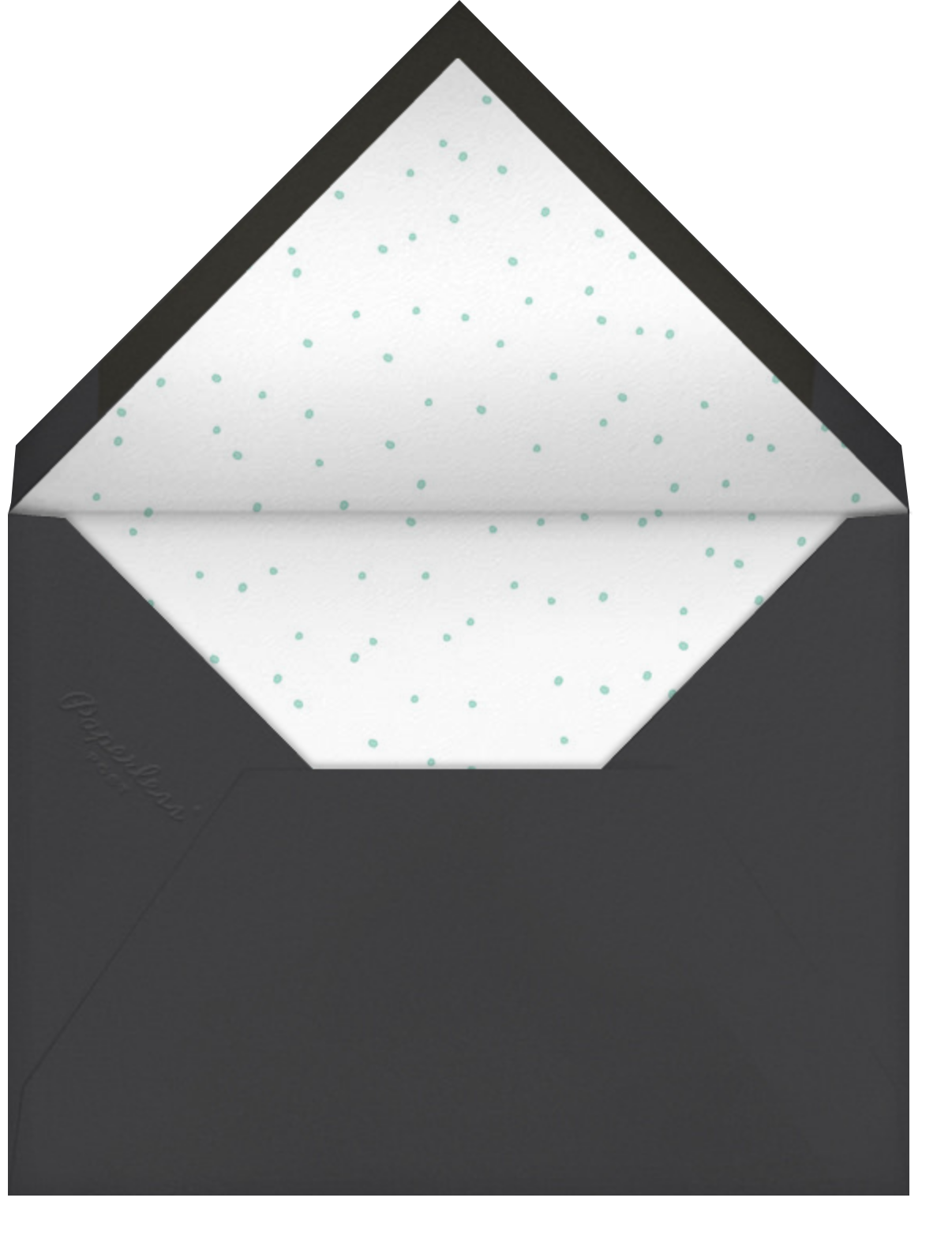 With Hugs and Kisses (Double-Sided) - Slate - Linda and Harriett - Engagement party - envelope back