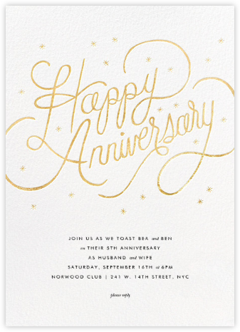 Starlit Anniversary - White - Rifle Paper Co. - Celebration invitations
