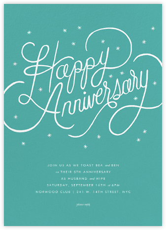 Starlit Anniversary - Green - Rifle Paper Co. - Rifle Paper Co. Invitations