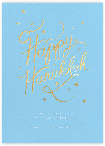 Starlit Hanukkah - Blue - Rifle Paper Co. - Hanukkah Cards