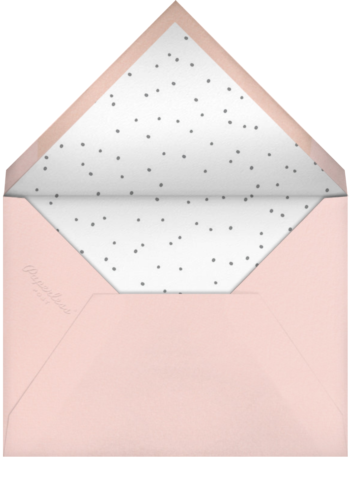 With Hugs and Kisses (Double-Sided) - Slate - Linda and Harriett - Anniversary party - envelope back