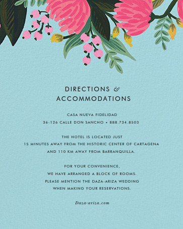 Saigon Blooms (Tall) - Caribbean - Rifle Paper Co. - All - insert front