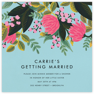 Saigon Blooms (Square) - Caribbean - Rifle Paper Co. - Bridal shower invitations