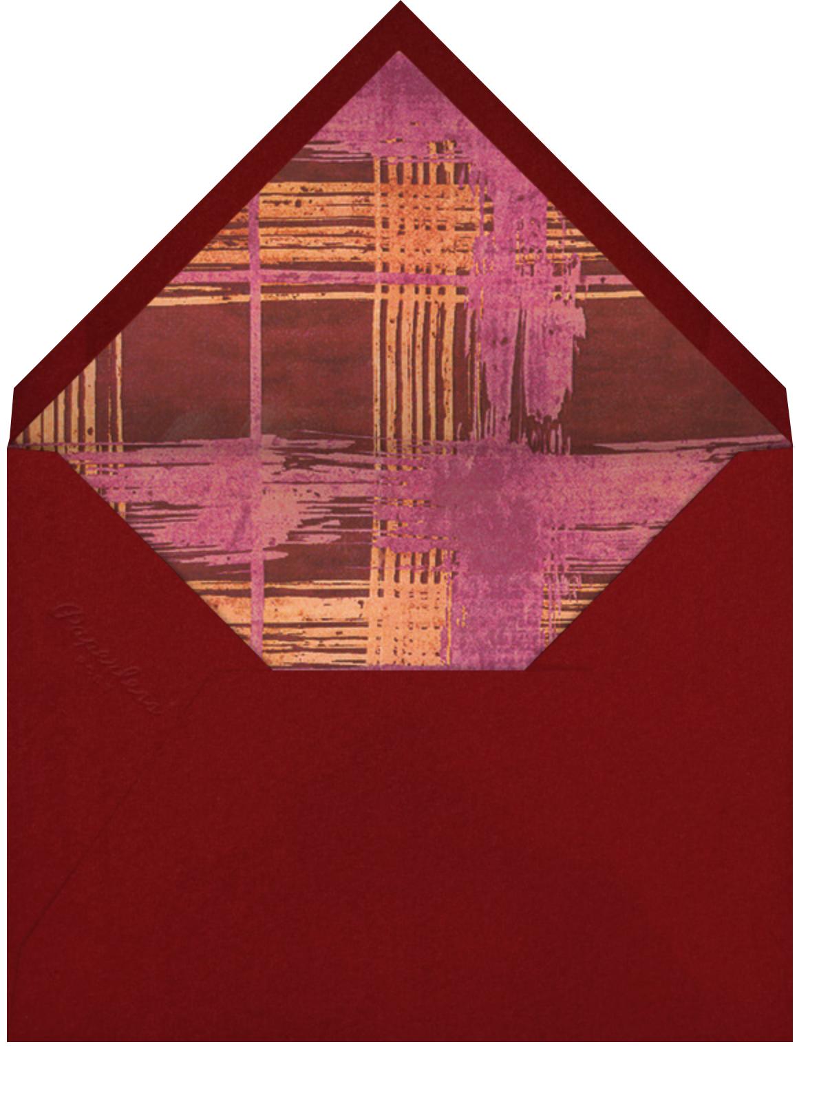 Different Strokes - Crimson - Kelly Wearstler - Thank you - envelope back