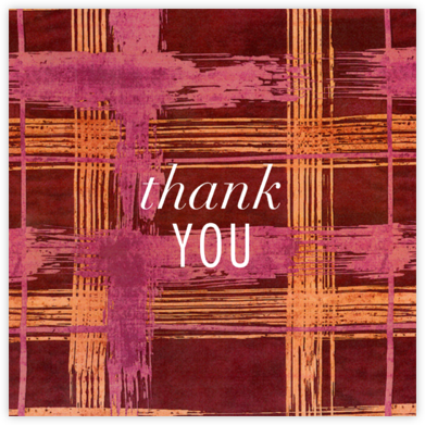 Different Strokes - Crimson - Kelly Wearstler - Online Thank You Cards