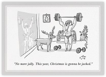 Jacked Santa - The New Yorker -