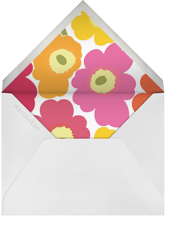 Unikko (Tall) - Pink Multi - Marimekko - Adult birthday - envelope back