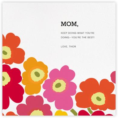 Unikko (Square) - Pink Multi - Marimekko - Mother's Day Cards