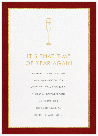 Oro - Red (Tall) - Paperless Post - Reception invitations
