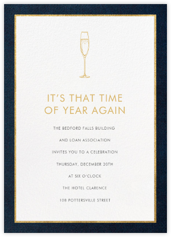 Oro - Blue (Tall) - Paperless Post - Invitations