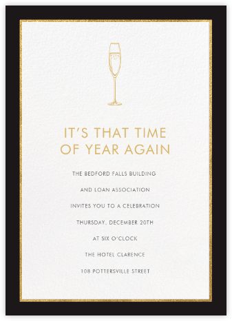 Oro - Black (Tall) - Paperless Post - Business event invitations