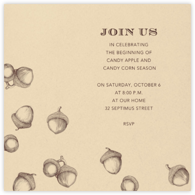 Acorns - Wheat - Paperless Post - Fall Entertaining Invitations