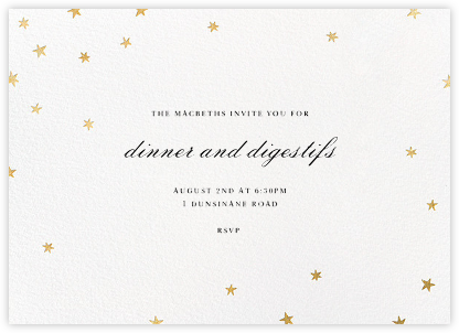Nightly - White/Gold - Paperless Post - Dinner party invitations