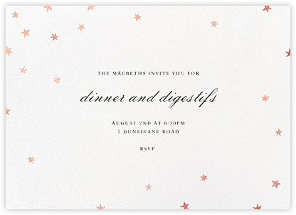 Nightly - White/Rose Gold - Paperless Post - Dinner Party Invitations