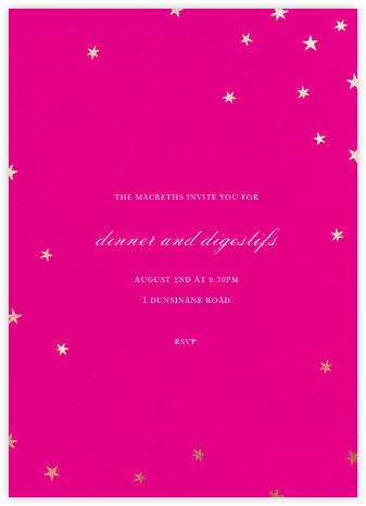 Nightly (Tall) - Bright Pink/Rose Gold - Paperless Post -