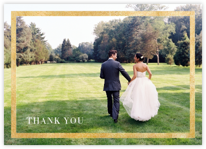 Editorial II (Photo Stationery) - Gold - Paperless Post - Wedding thank you cards