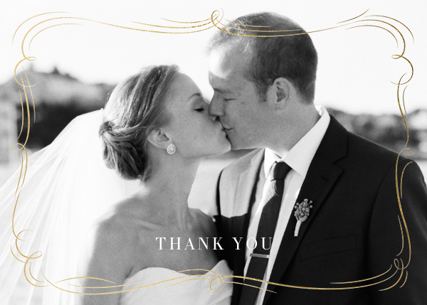 Plume (Photo Stationery) - Gold - Paperless Post - Wedding thank you notes