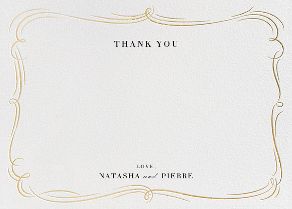 Plume - Ivory/Gold - Paperless Post - Wedding thank you notes