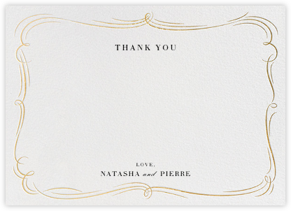Plume - Ivory/Gold - Paperless Post - Wedding thank you cards