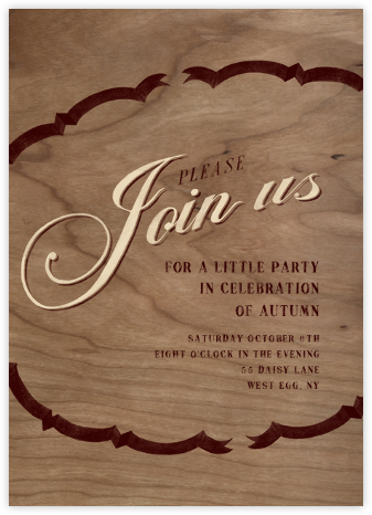 Please Join - Cream Brown - Paperless Post -