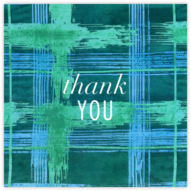 Different Strokes - Teal - Kelly Wearstler - Online Thank You Cards