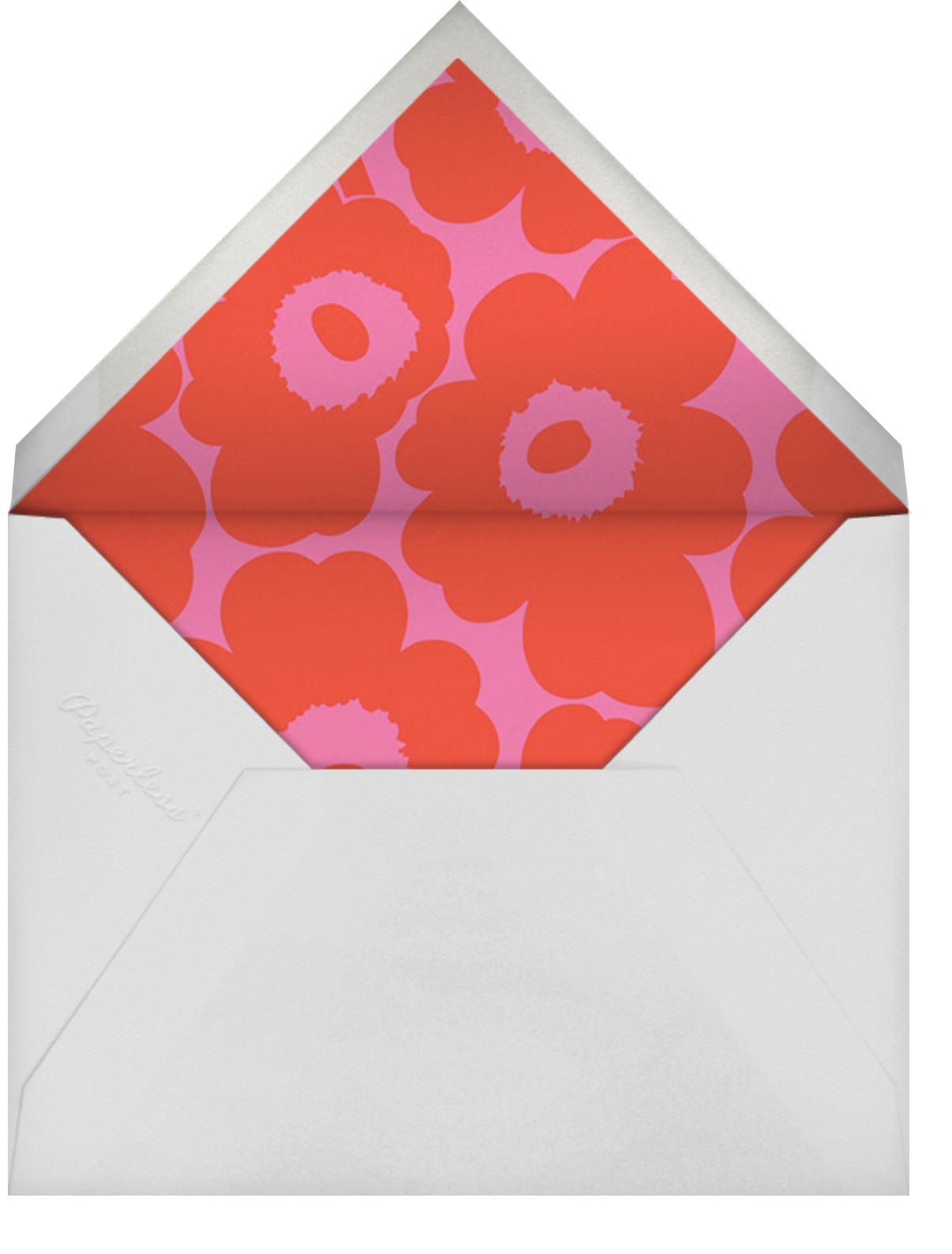 Unikko (Square) - Red/Pink - Marimekko - Valentine's Day - envelope back