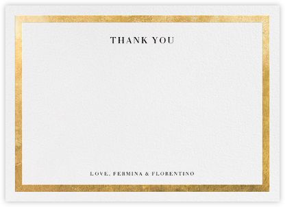 Editorial II (Stationery) - White/Gold - Paperless Post - Online thank you notes