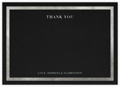 Editorial II (Stationery) - Black/Silver - Paperless Post -
