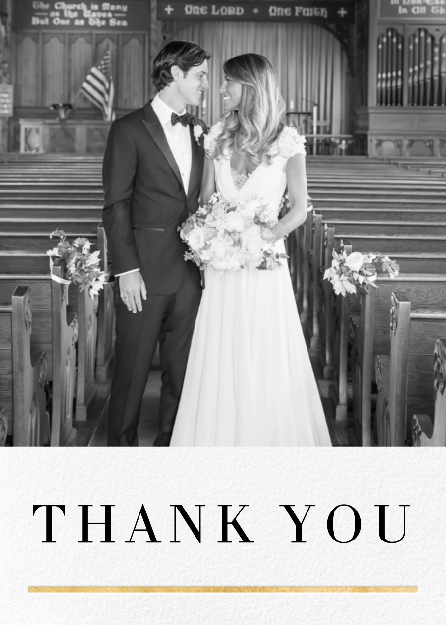 Underscore - Gold - Paperless Post - Wedding thank you notes