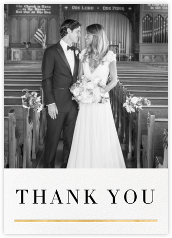 Underscore - Gold - Paperless Post - Wedding thank you cards