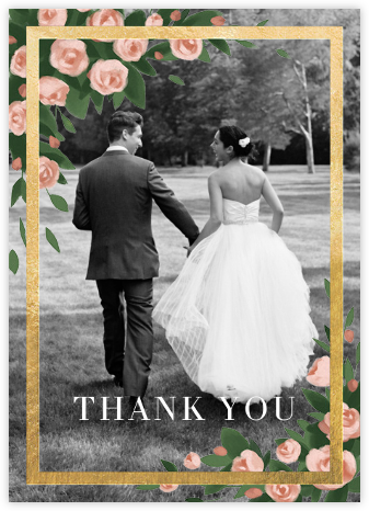 Teablossom (Photo) - Gold/Pink - Paperless Post - Wedding thank you cards