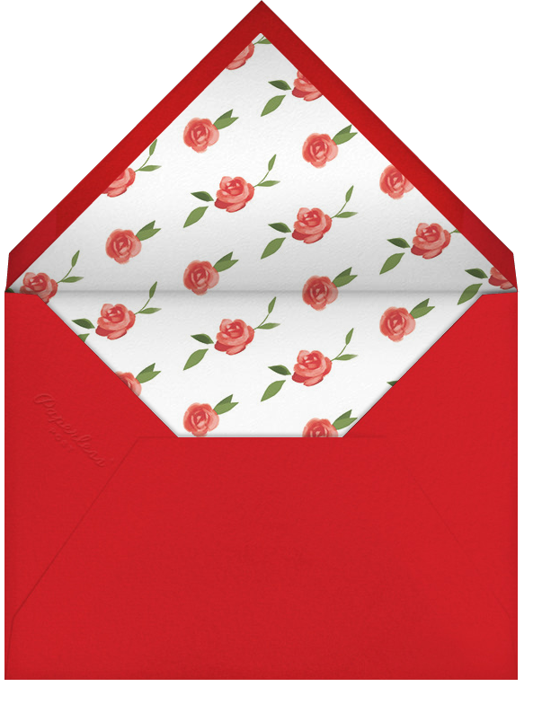 Teablossom (Photo Stationery) - Silver/Red - Paperless Post - Wedding - envelope back