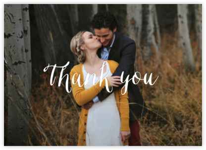 Full-Page Photo Ivory (Double-Sided) - Horizontal - Paperless Post - Wedding thank you notes