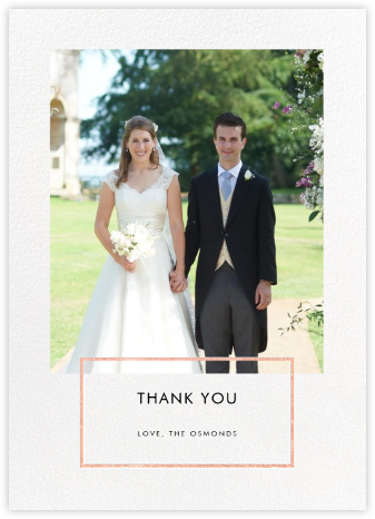 Placard - Rose Gold - Paperless Post - Wedding thank you notes