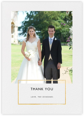 Placard - Gold - Paperless Post - Wedding thank you notes